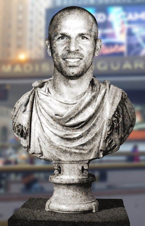 By the playoffs, he kinda played like a statue.