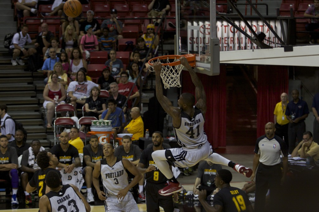 Thomas Robinson bricking a dunk.