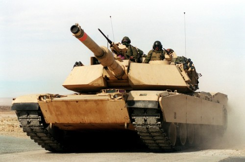 A U.S. Marine Corps M-1A1 Abrams main battle tank. It is not JR's ride either.